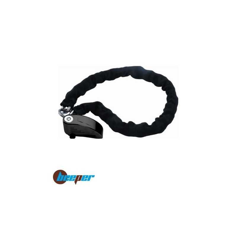 Antivol bloque-disque avec alarme 100 dB + chaîne pour moto & scooter • AN-BCH100