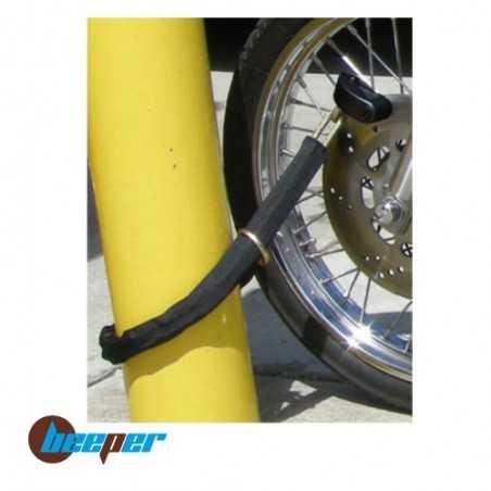 AN-BCH100 • Bloque disque alarme + chaîne pour moto & scooter