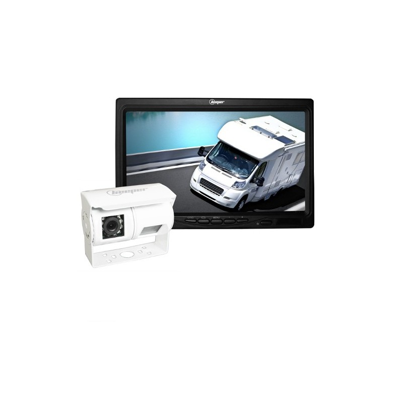 Kit vidéo de recul double vision avec caméra blanche • RWEC200X-BL