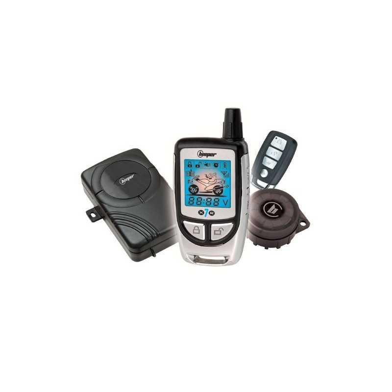 Alarme deux-roues avec télécommande bi-directionnelle écran LCD • X7R