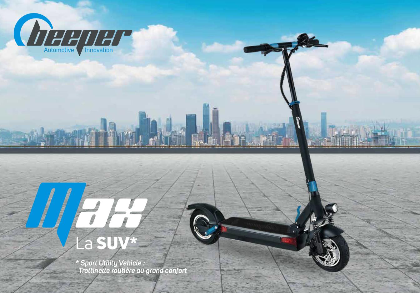 Trottinette électrique Beeper MAX G2 - Plaquette de présentation