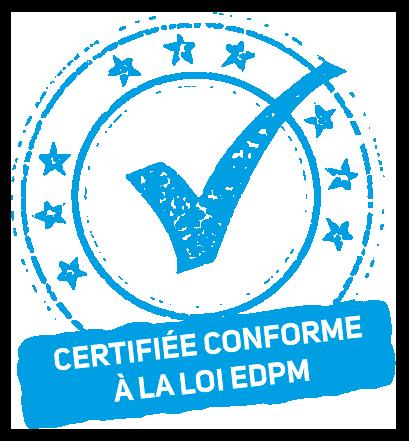 Certifiée conforme loi EDPM