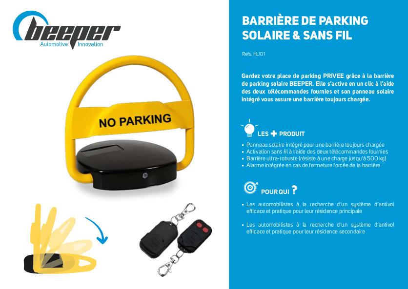 Barrière de parking solaire - Fiche produit
