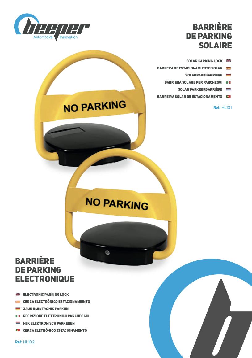 Barrière de parking électrique & sans fil - Manuel