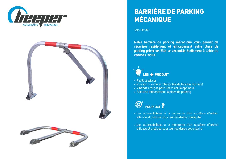Fiche produit barrière de parking mécanique