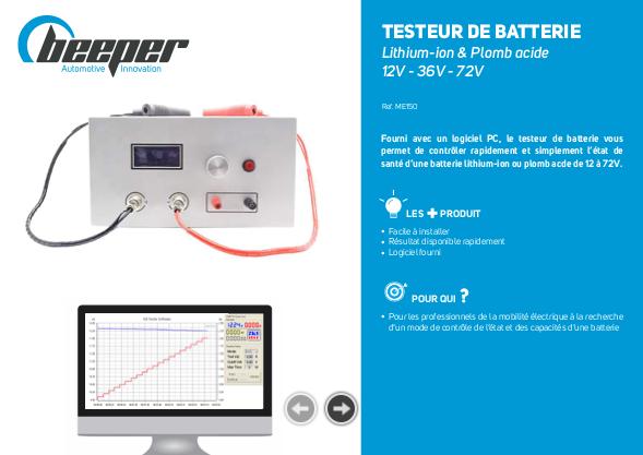 Fiche produit Testeur de batterie Beeper