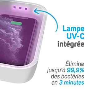 Box désinfection & recharge mobile - Lampe UV-C