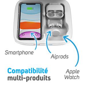 NCOV205 - Boîte UV 2 en 1 idéale pour smartphone aipods, apple watch