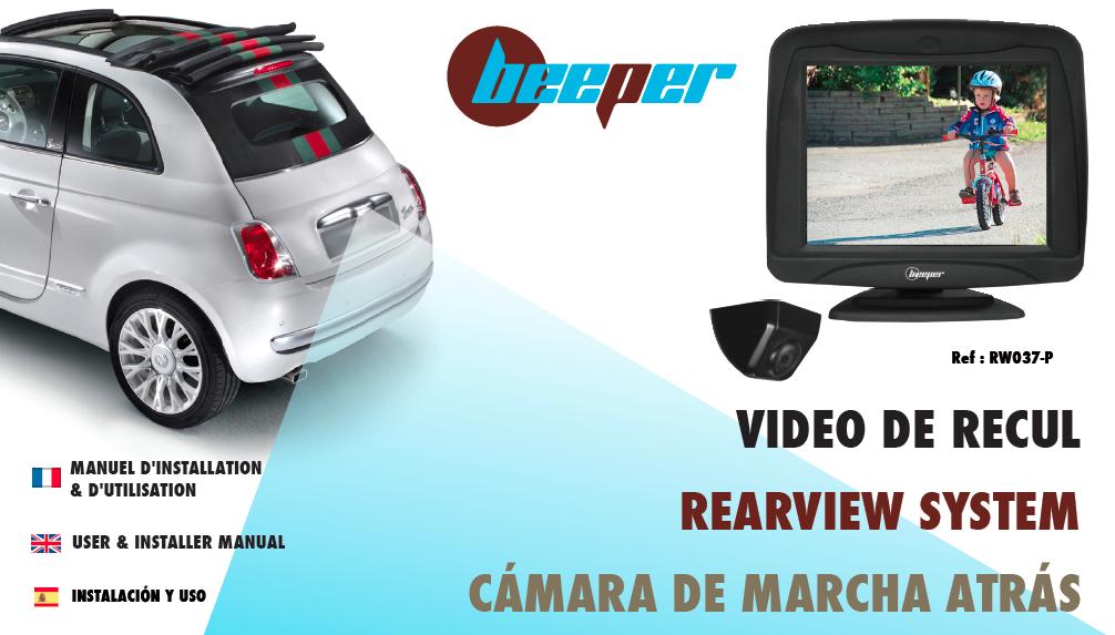 Manuel RW037-P Caméra de recul