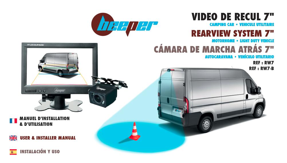 Manuel RW7-B Caméra de recul